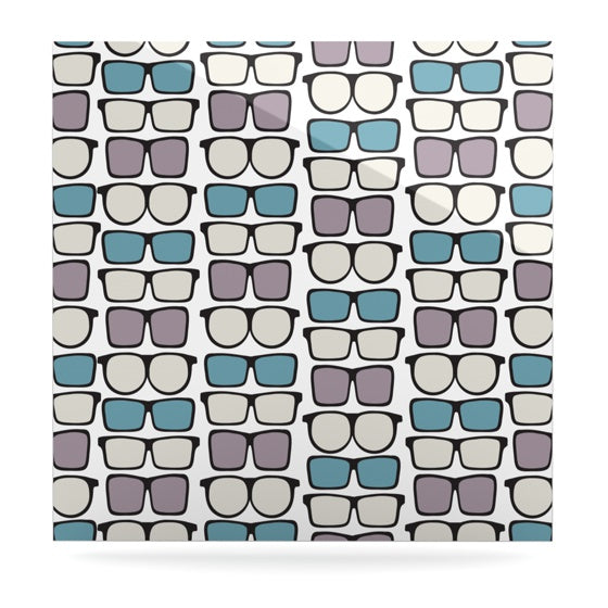 "Michelle Drew ""Spectacles Geek Chic"" Luxe Square Panel - KESS InHouse  - 1"