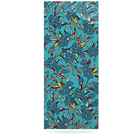 "Michelle Drew ""Paper Leaf Blue"" Luxe Rectangle Panel - KESS InHouse  - 1"