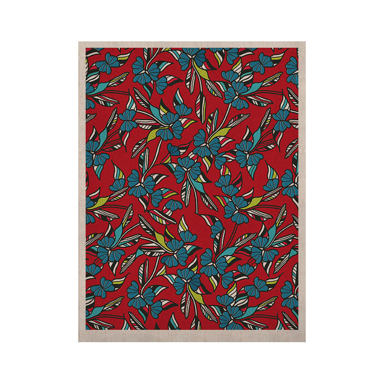 "Michelle Drew ""Paper Leaf Red"" KESS Naturals Canvas (Frame not Included) - KESS InHouse  - 1"