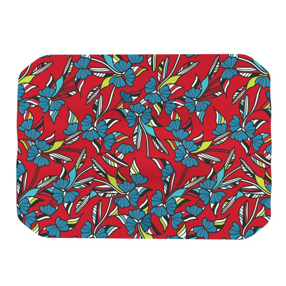 "Michelle Drew ""Paper Leaf Red"" Place Mat - KESS InHouse"