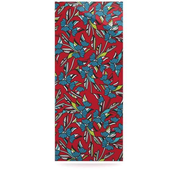 "Michelle Drew ""Paper Leaf Red"" Luxe Rectangle Panel - KESS InHouse  - 1"