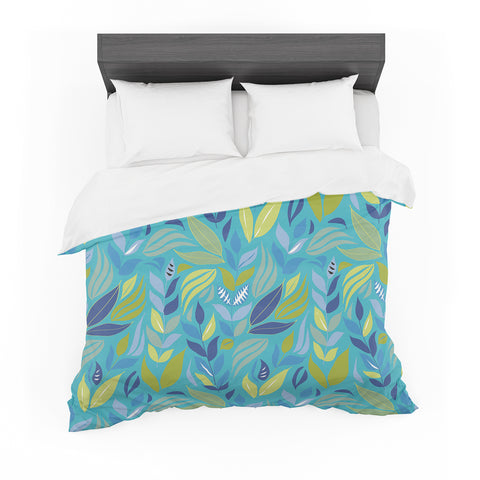 "Michelle Drew ""Underwater Bouquet"" Cotton Duvet"