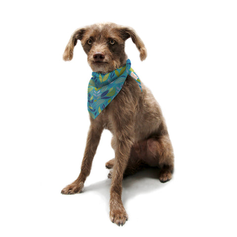 "Michelle Drew ""Underwater Bouquet"" Pet Bandana - KESS InHouse  - 1"