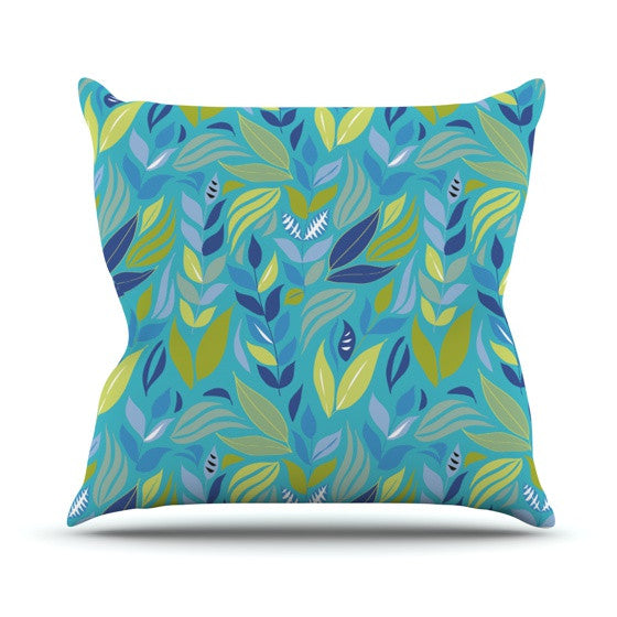 "Michelle Drew ""Underwater Bouquet"" Outdoor Throw Pillow - KESS InHouse  - 1"