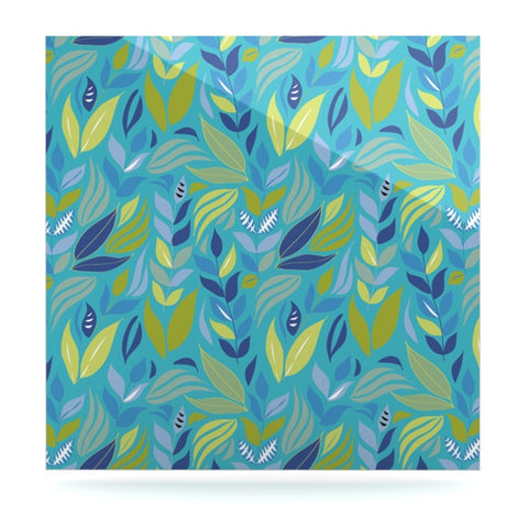 "Michelle Drew ""Underwater Bouquet"" Luxe Square Panel - KESS InHouse  - 1"