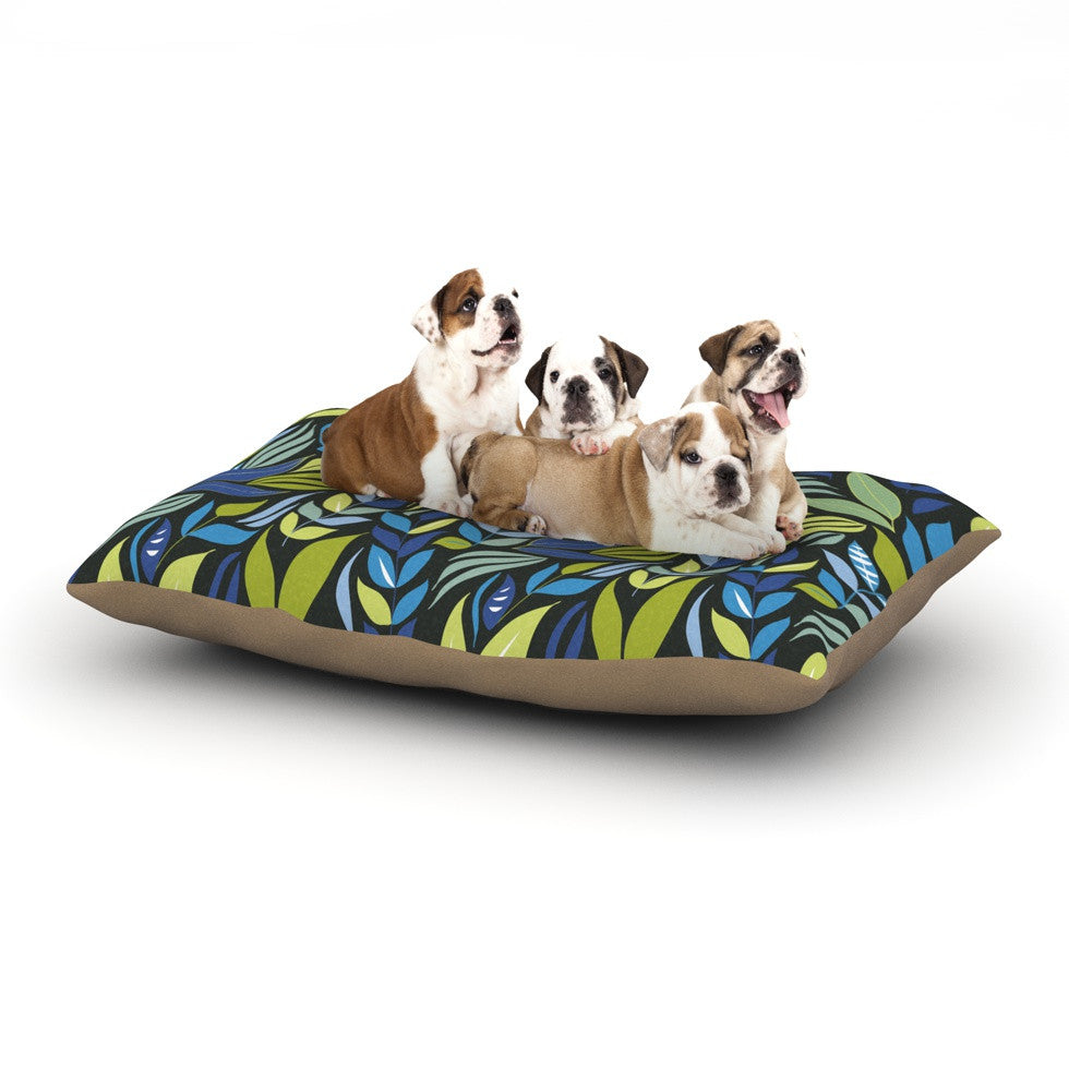 "Michelle Drew ""Underwater Bouquet Night"" Dog Bed - KESS InHouse  - 1"