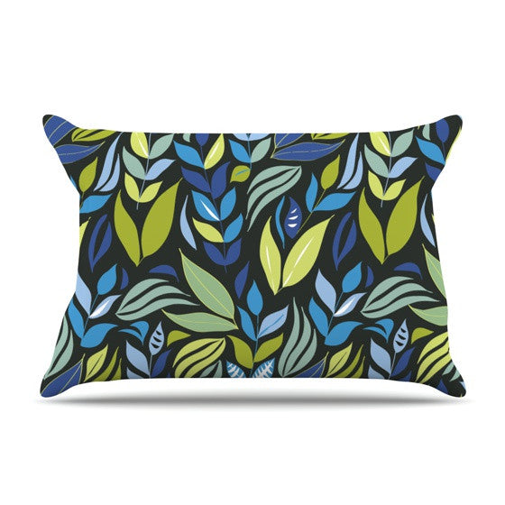 "Michelle Drew ""Underwater Bouquet Night"" Pillow Sham - KESS InHouse"
