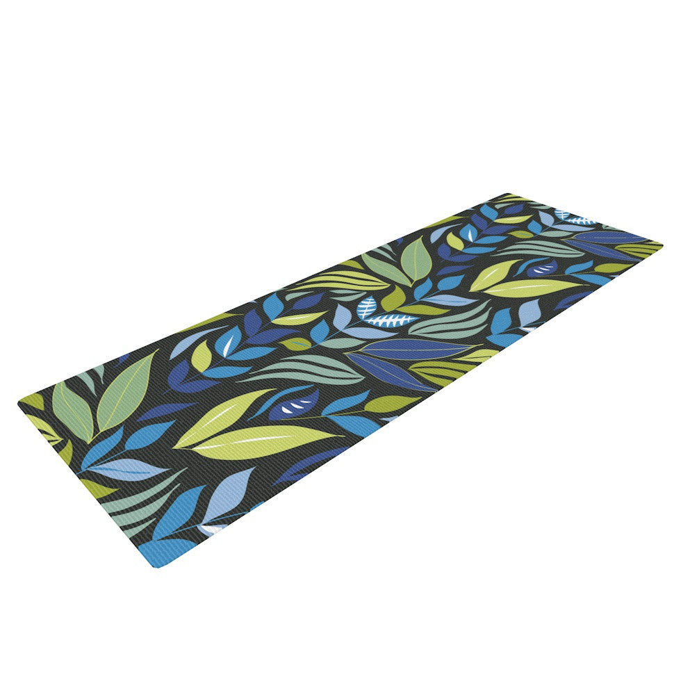 "Michelle Drew ""Underwater Bouquet Night"" Yoga Mat - KESS InHouse  - 1"