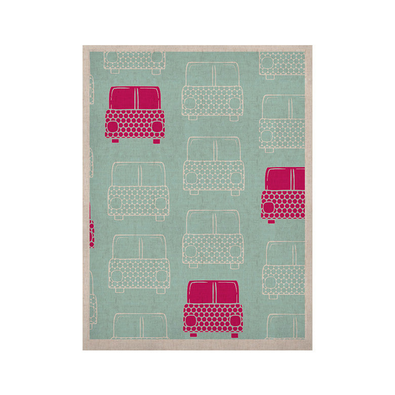 "Michelle Drew ""Beep Beep"" Magenta Aqua KESS Naturals Canvas (Frame not Included) - KESS InHouse  - 1"