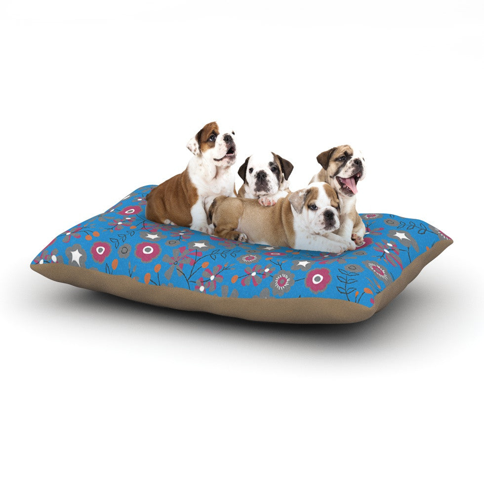 "Michelle Drew ""Meadow"" Navy Paisley Dog Bed - KESS InHouse  - 1"