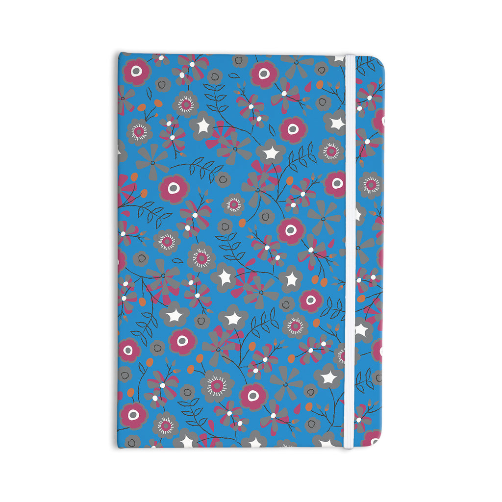 "Michelle Drew ""Meadow"" Navy Paisley Everything Notebook - KESS InHouse  - 1"