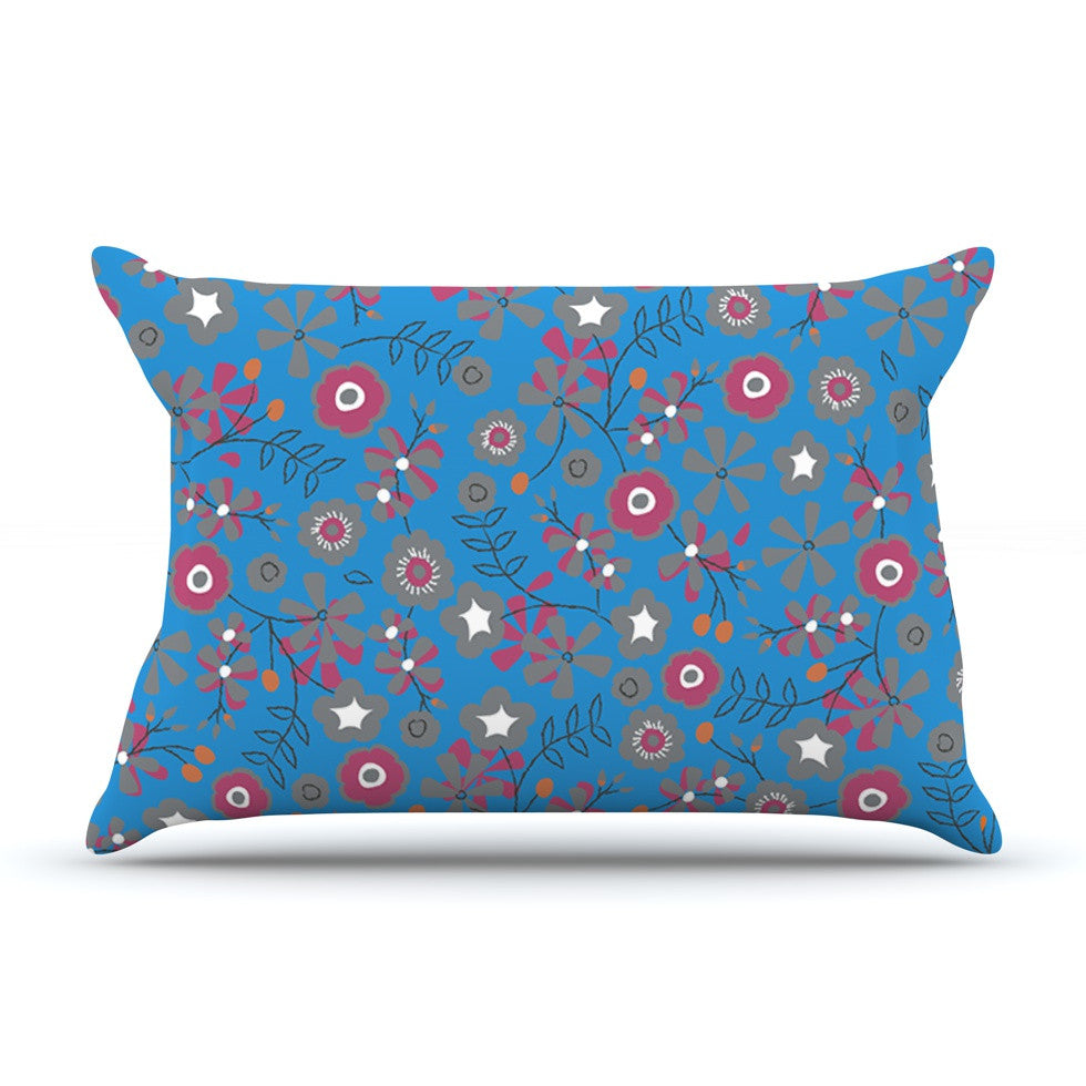 "Michelle Drew ""Meadow"" Navy Paisley Pillow Sham - KESS InHouse"