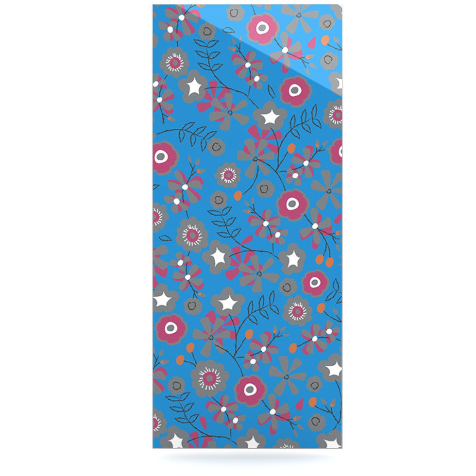 "Michelle Drew ""Meadow"" Navy Paisley Luxe Rectangle Panel - KESS InHouse  - 1"