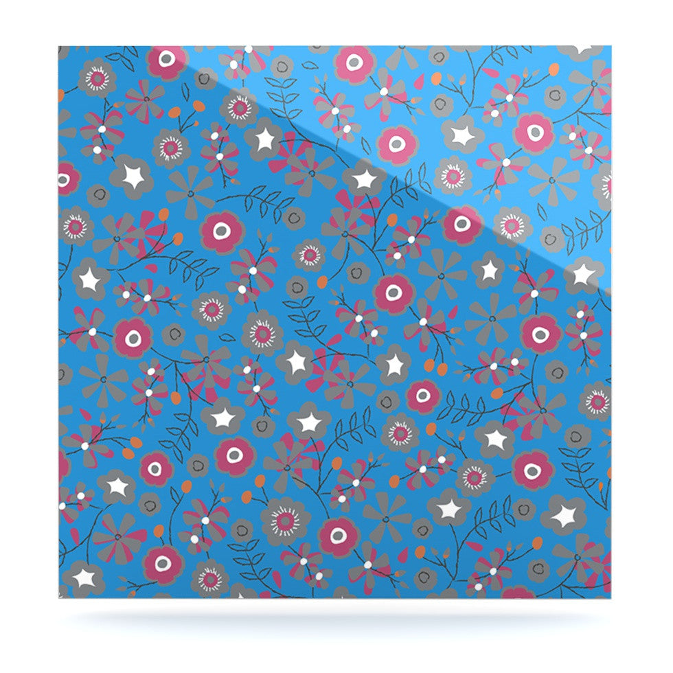 "Michelle Drew ""Meadow"" Navy Paisley Luxe Square Panel - KESS InHouse  - 1"
