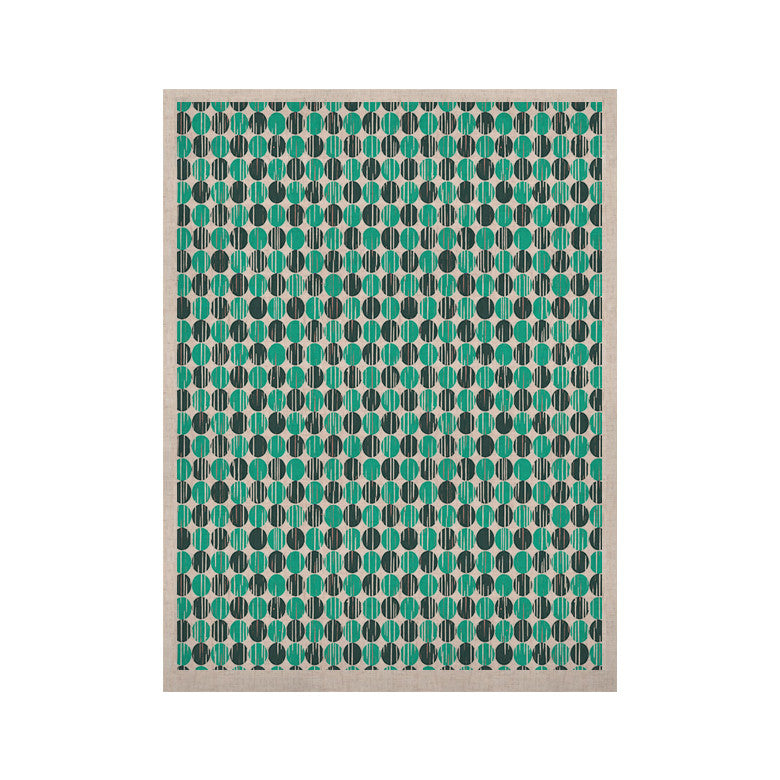 "Michelle Drew ""Distressed Circles"" Teal Aqua KESS Naturals Canvas (Frame not Included) - KESS InHouse  - 1"