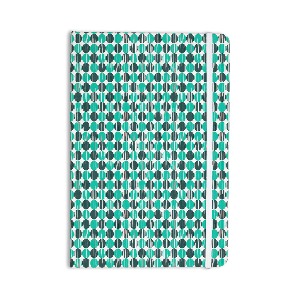 "Michelle Drew ""Distressed Circles"" Teal Aqua Everything Notebook - KESS InHouse  - 1"