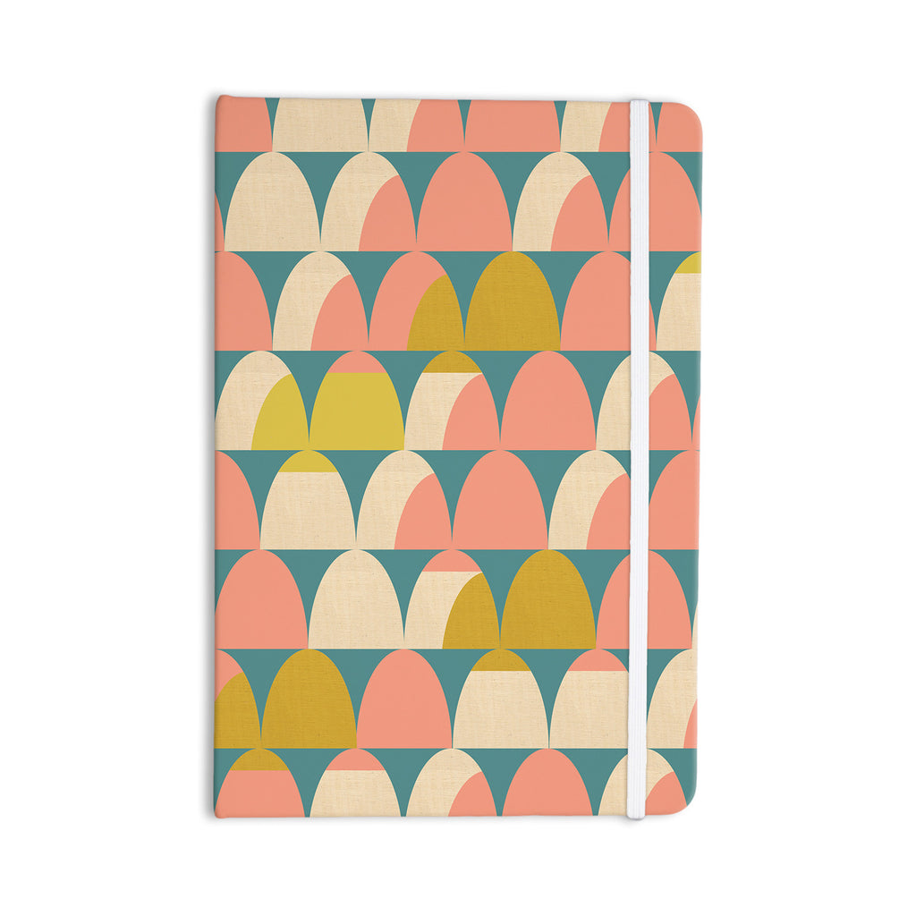 "Michelle Drew ""Scallops"" Pink Teal Everything Notebook - KESS InHouse  - 1"