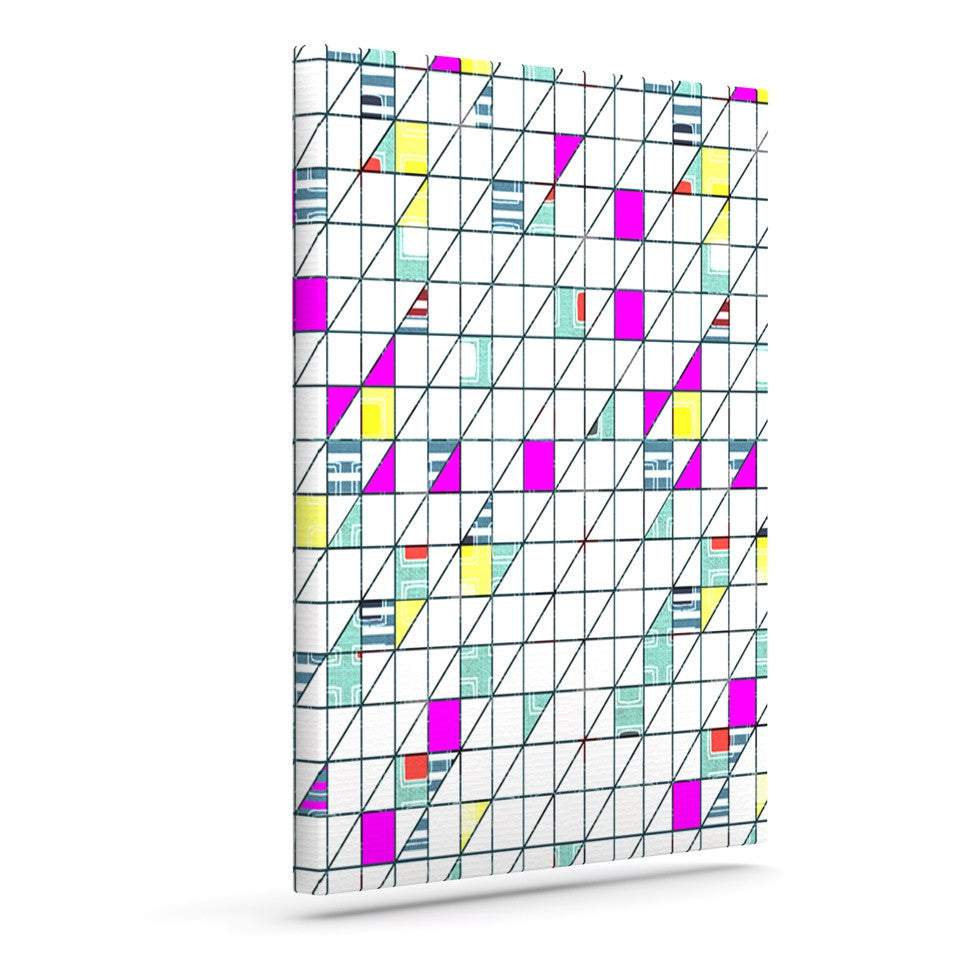 "Michelle Drew ""Squares"" Abstract Geometry Canvas Art - KESS InHouse  - 1"