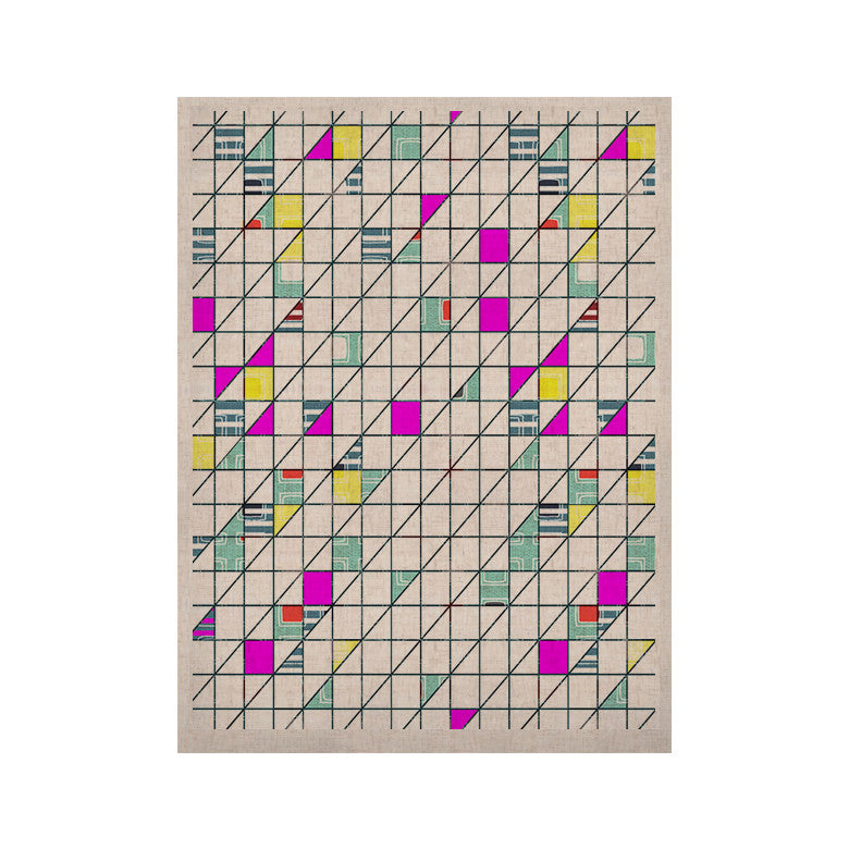 "Michelle Drew ""Squares"" Abstract Geometry KESS Naturals Canvas (Frame not Included) - KESS InHouse  - 1"