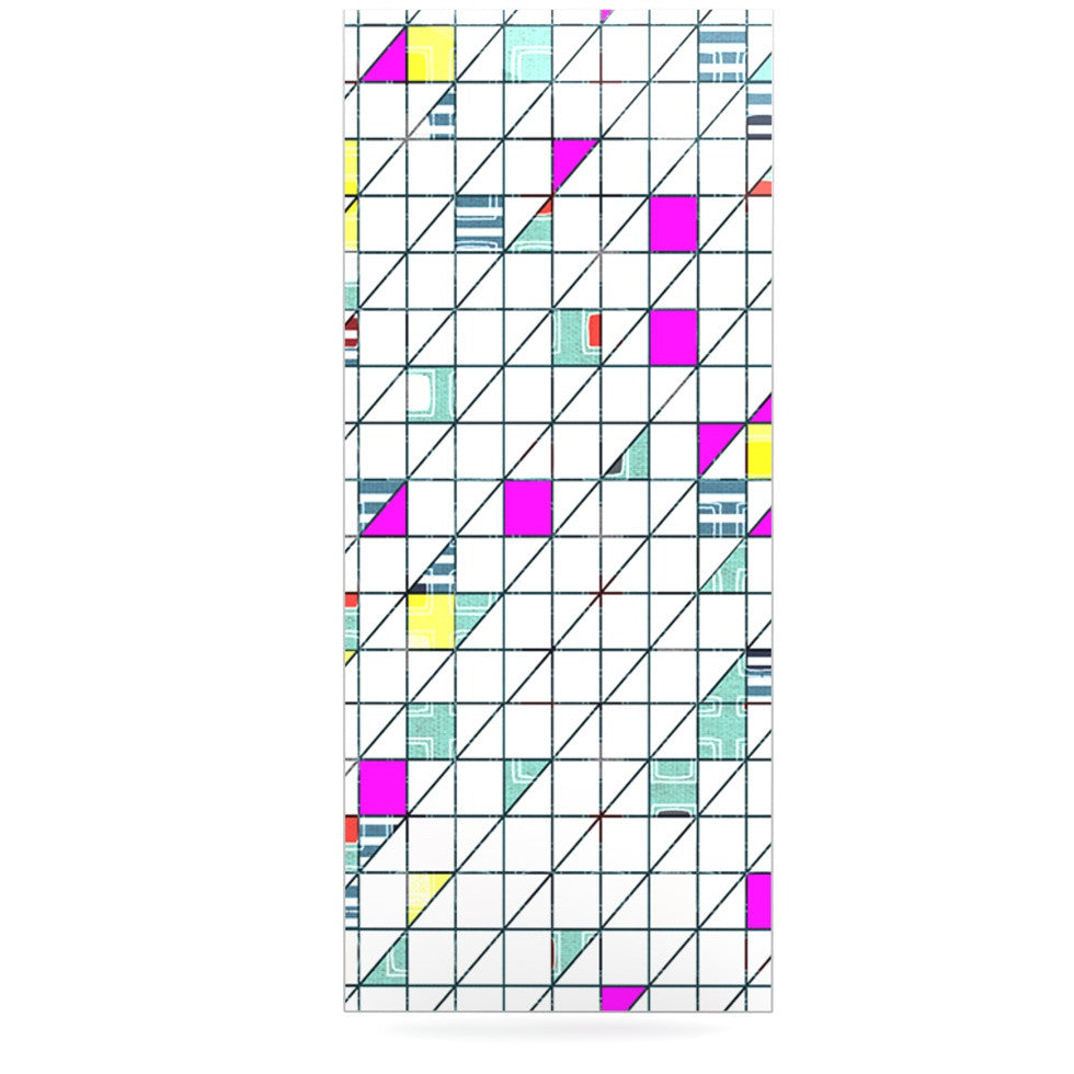 "Michelle Drew ""Squares"" Abstract Geometry Luxe Rectangle Panel - KESS InHouse  - 1"