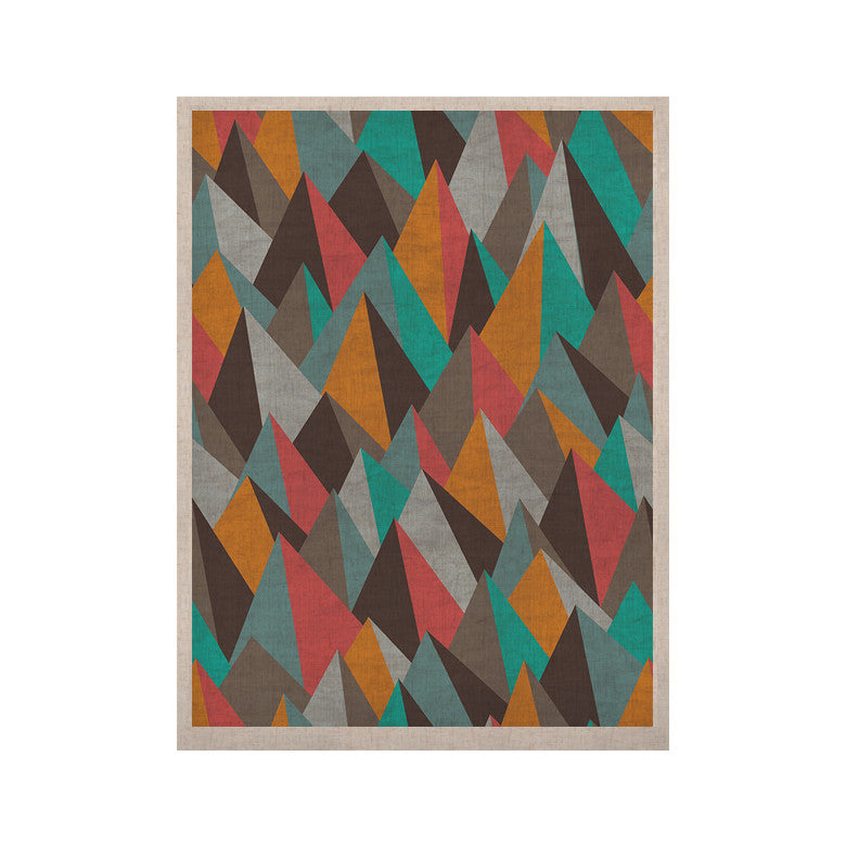 "Michelle Drew ""Mountain Peaks I"" Orange Teal KESS Naturals Canvas (Frame not Included) - KESS InHouse  - 1"