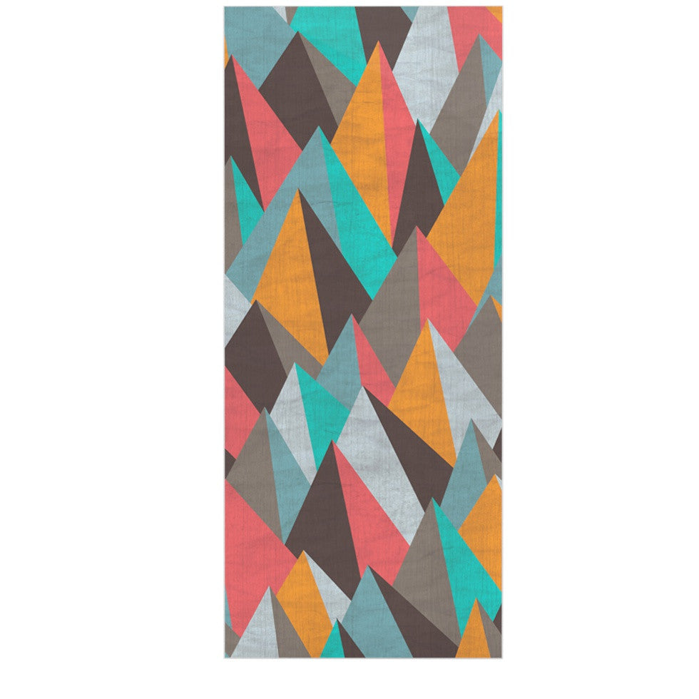 "Michelle Drew ""Mountain Peaks I"" Orange Teal Luxe Rectangle Panel - KESS InHouse  - 1"