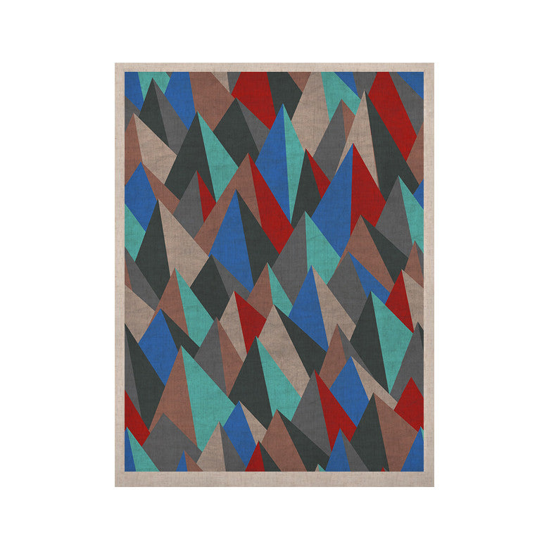 "Michelle Drew ""Mountain Peaks II"" Blue Red KESS Naturals Canvas (Frame not Included) - KESS InHouse  - 1"