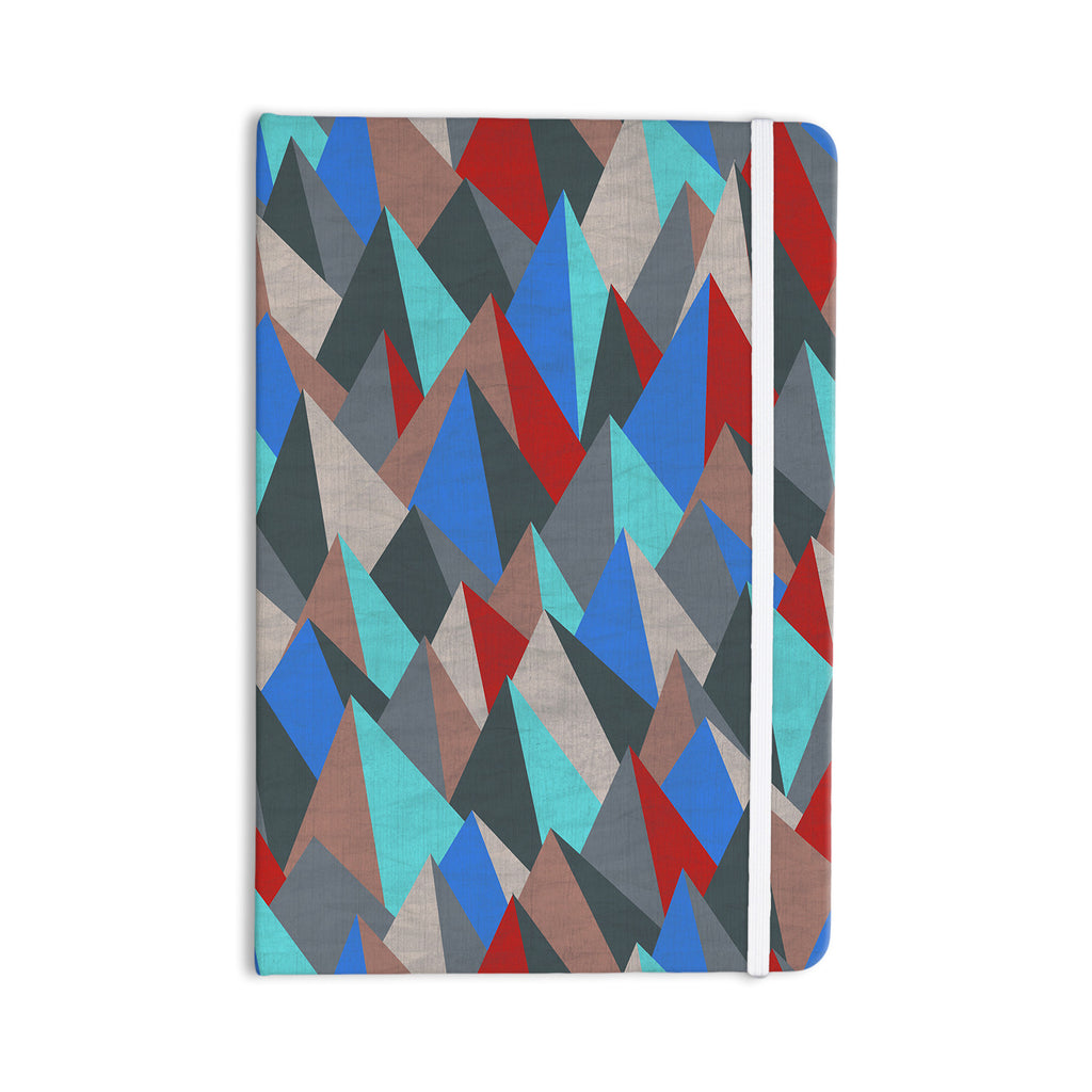 "Michelle Drew ""Mountain Peaks II"" Blue Red Everything Notebook - KESS InHouse  - 1"
