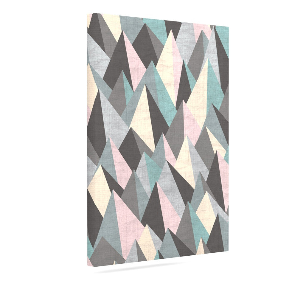 "Michelle Drew ""Mountain Peaks III"" Pastel Geometric Canvas Art - KESS InHouse  - 1"