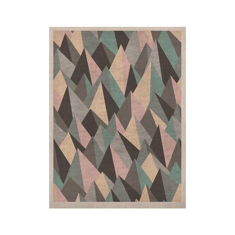 "Michelle Drew ""Mountain Peaks III"" Pastel Geometric KESS Naturals Canvas (Frame not Included) - KESS InHouse  - 1"