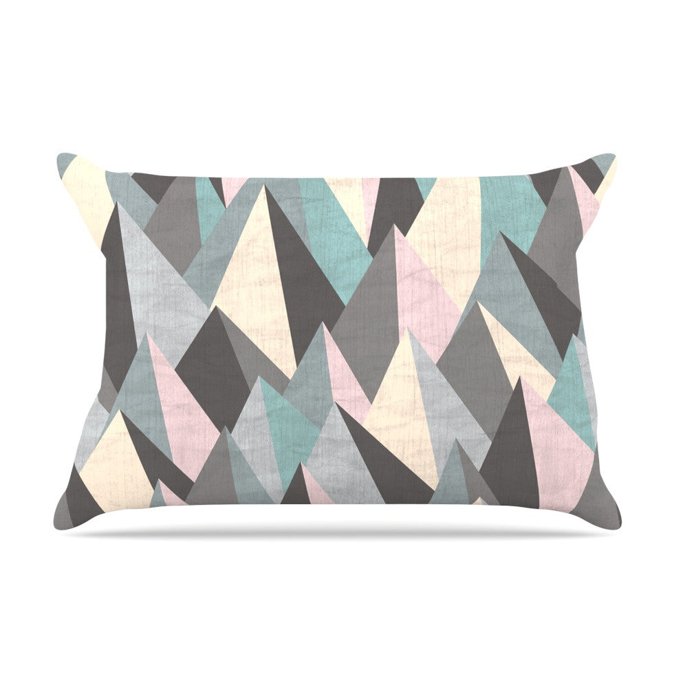 "Michelle Drew ""Mountain Peaks III"" Pastel Geometric Pillow Sham - KESS InHouse"