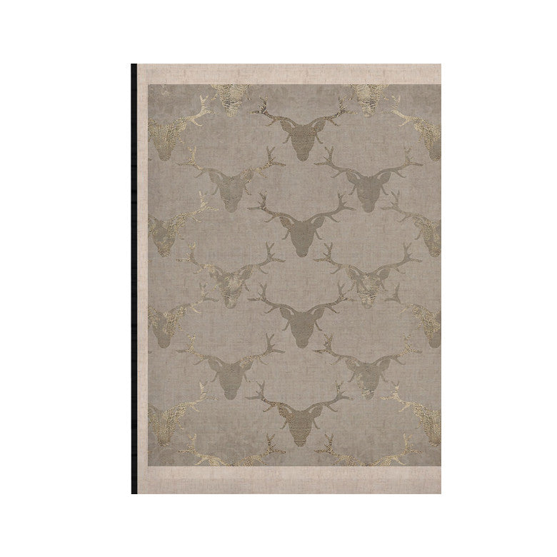 "Michelle Drew ""Gilded Stags"" Gray KESS Naturals Canvas (Frame not Included) - KESS InHouse  - 1"