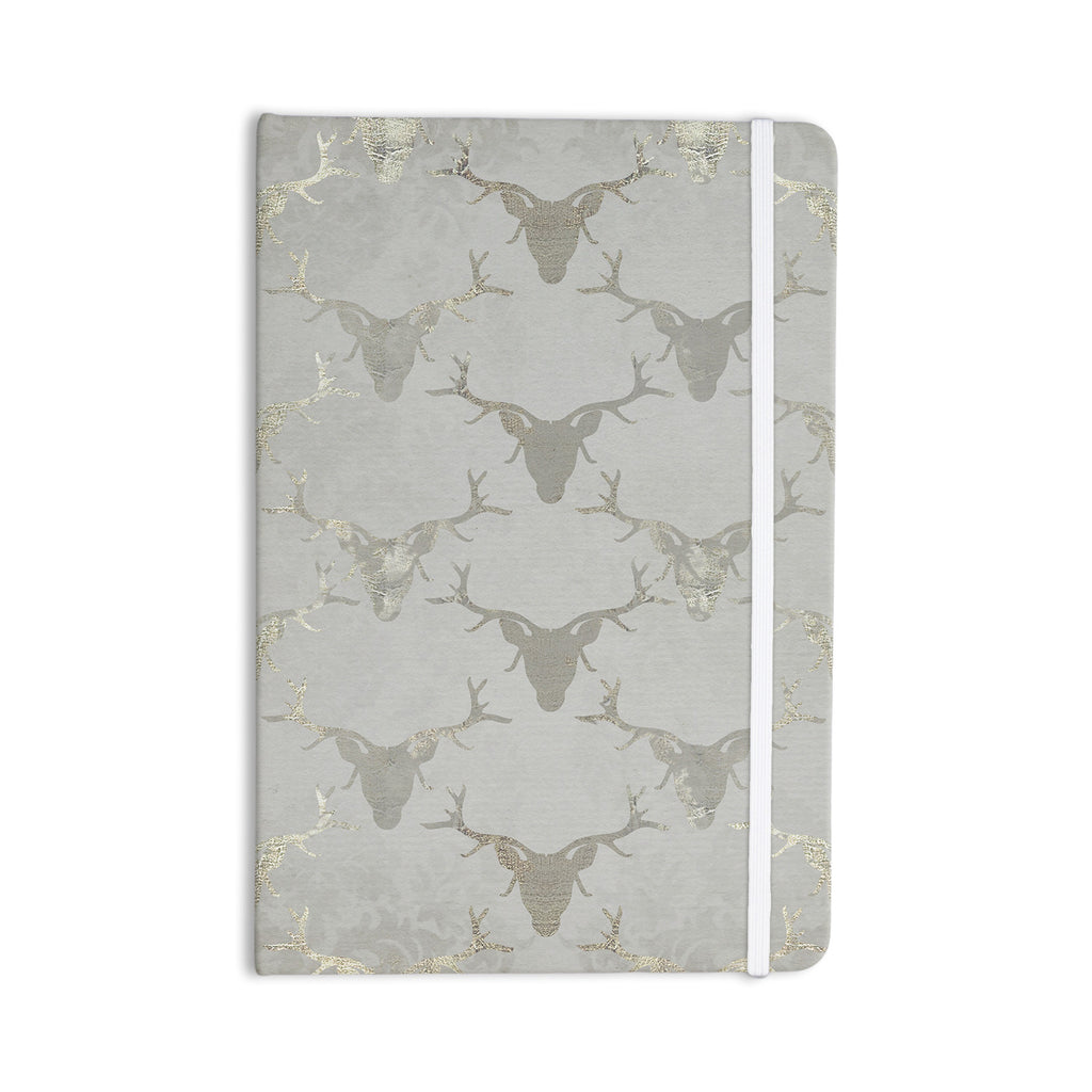 "Michelle Drew ""Gilded Stags"" Gray Everything Notebook - KESS InHouse  - 1"