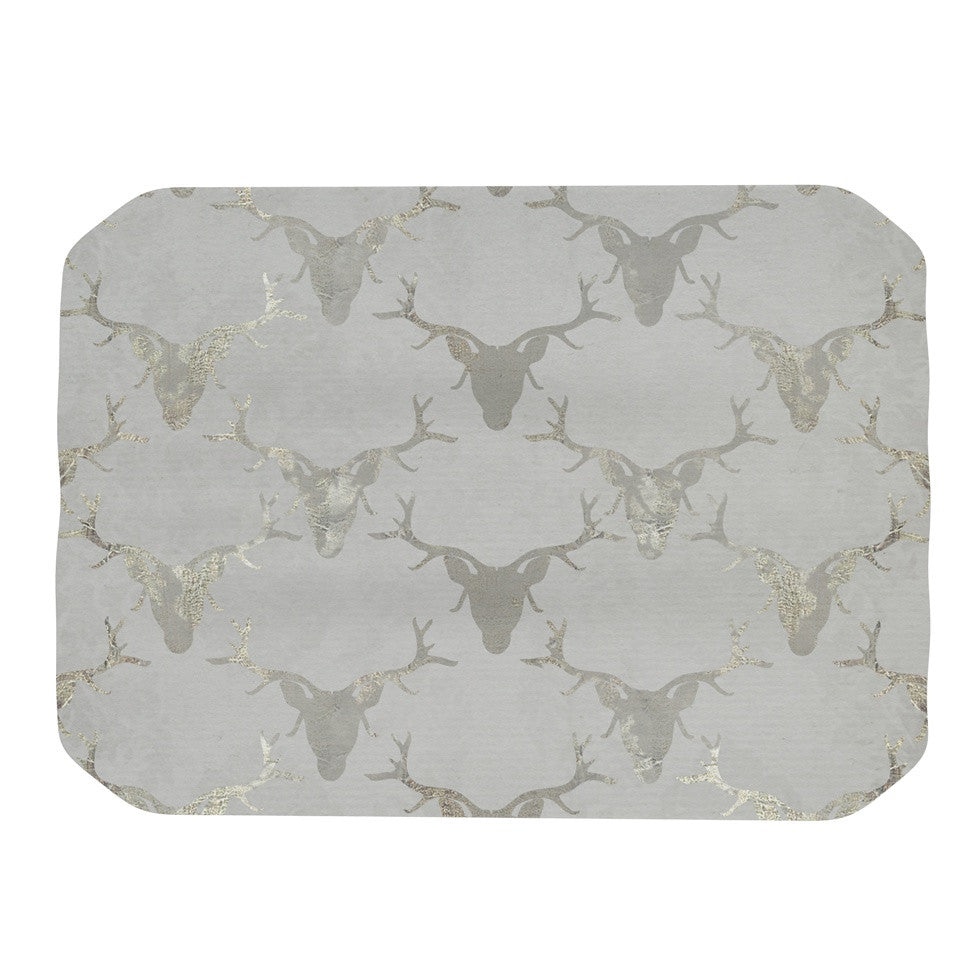 "Michelle Drew ""Gilded Stags"" Gray Place Mat - KESS InHouse"