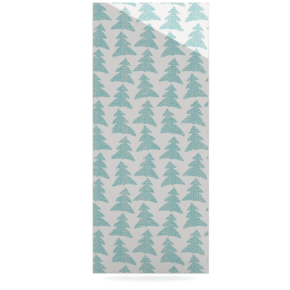 "Michelle Drew ""Herringbone Forest Teal"" Blue Luxe Rectangle Panel - KESS InHouse  - 1"