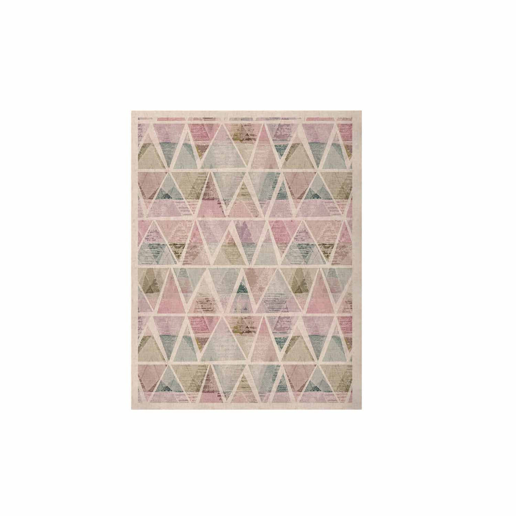 "Michelle Drew ""Triangle Mountains"" Pink Lavendar KESS Naturals Canvas (Frame not Included) - KESS InHouse  - 1"