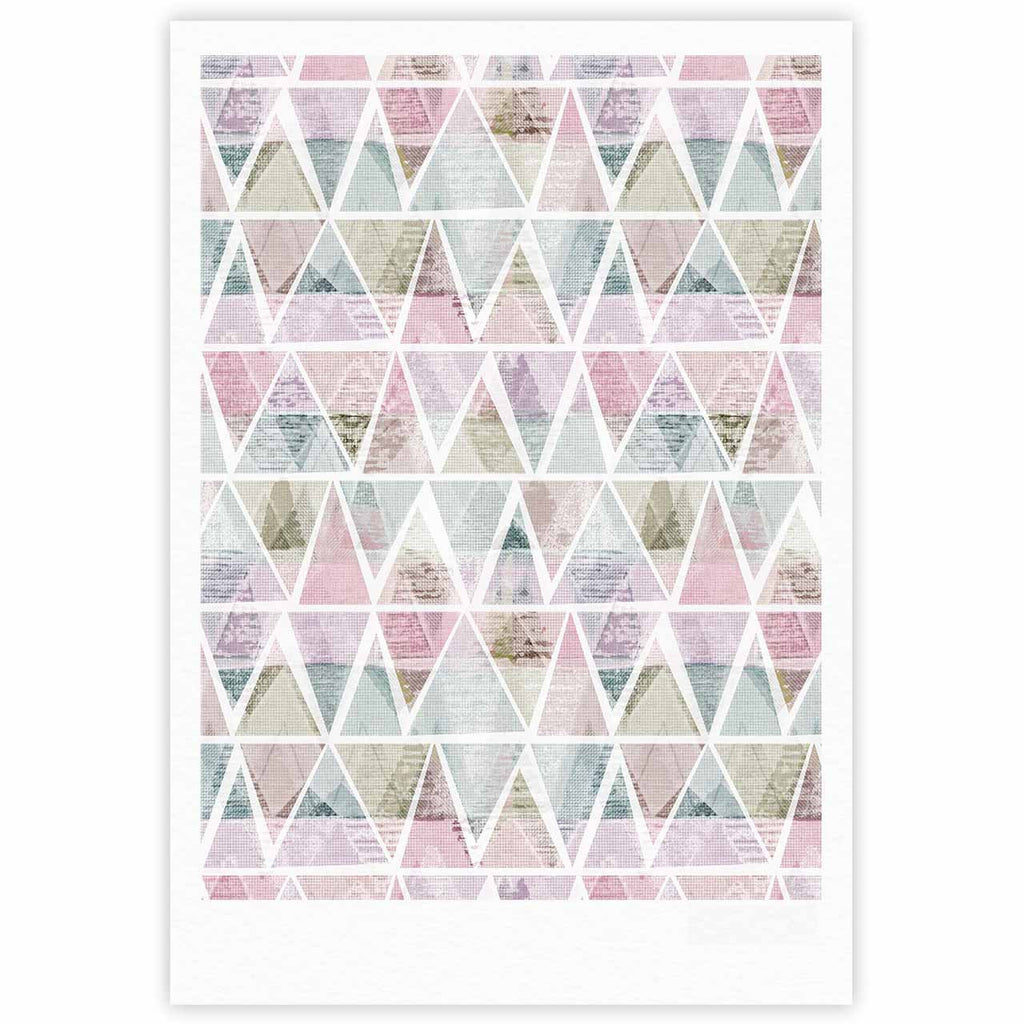 "Michelle Drew ""Triangle Mountains"" Pink Lavendar Fine Art Gallery Print - KESS InHouse"