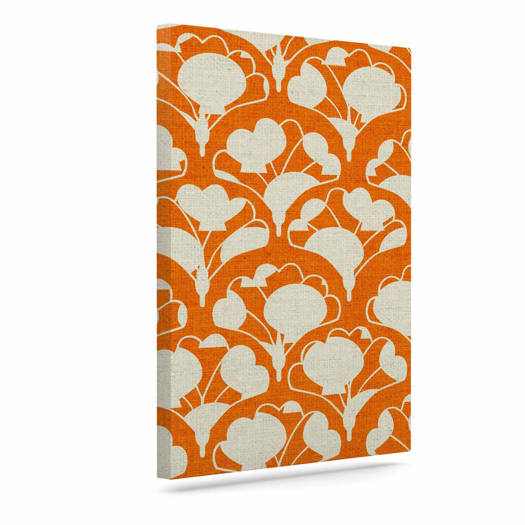 "Michelle Drew ""Art Deco In Orange"" White Canvas Art - KESS InHouse  - 1"
