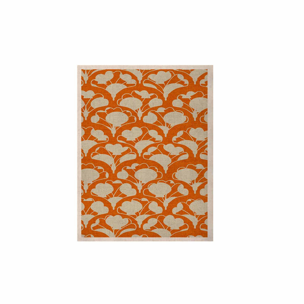 "Michelle Drew ""Art Deco In Orange"" White KESS Naturals Canvas (Frame not Included) - KESS InHouse  - 1"