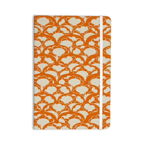 "Michelle Drew ""Art Deco In Orange"" White Everything Notebook - Outlet Item"