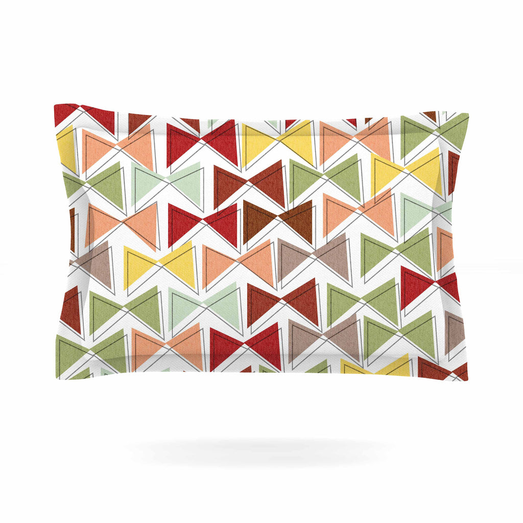 "Michelle Drew ""Bowties"" Red Maroon Pillow Sham - KESS InHouse  - 1"