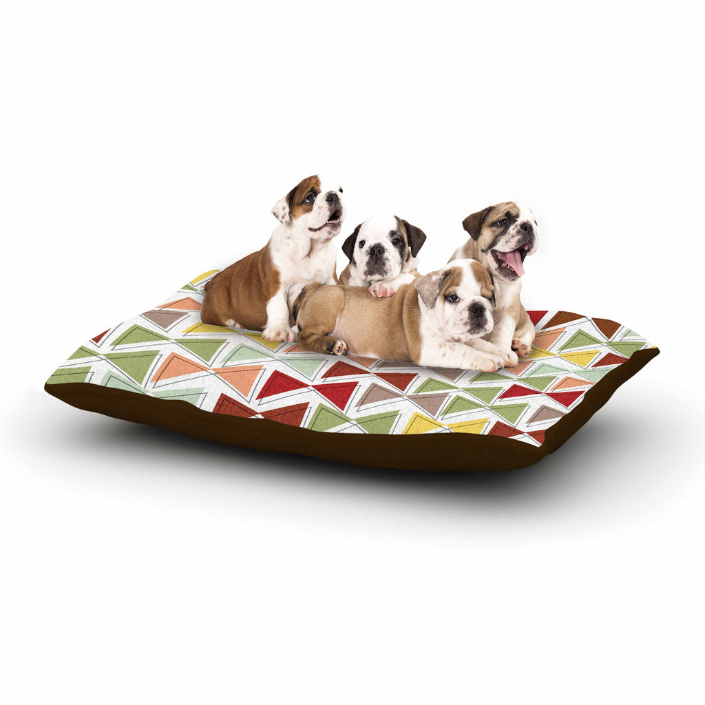 "Michelle Drew ""Bowties"" Red Maroon Dog Bed - KESS InHouse  - 1"