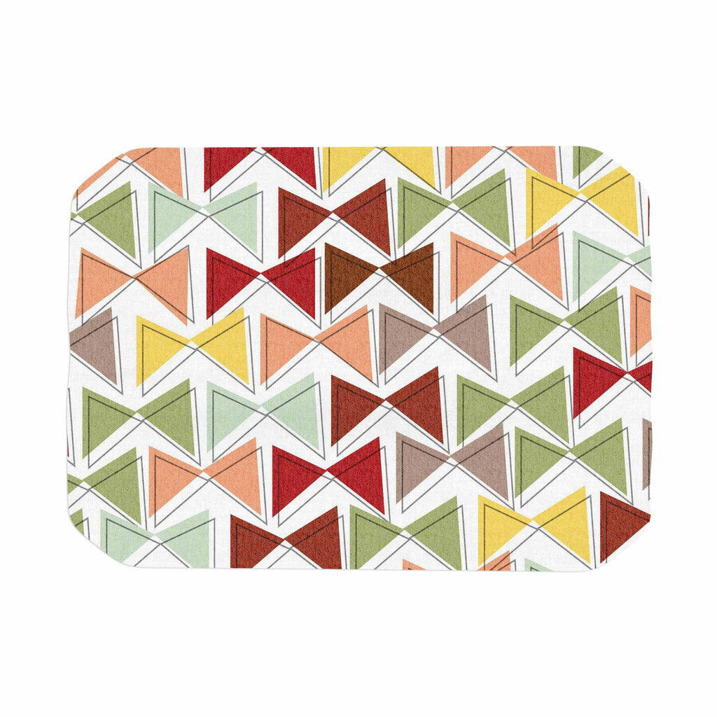 "Michelle Drew ""Bowties"" Red Maroon Place Mat - KESS InHouse"