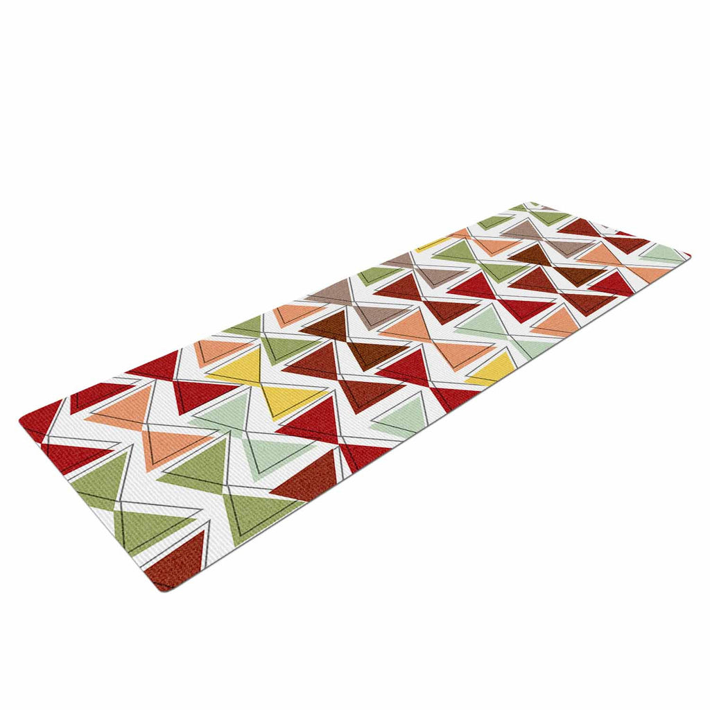 "Michelle Drew ""Bowties"" Red Maroon Yoga Mat - KESS InHouse  - 1"
