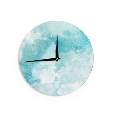 "Matt Eklund ""Skyward"" Blue White Wall Clock - Outlet Item"