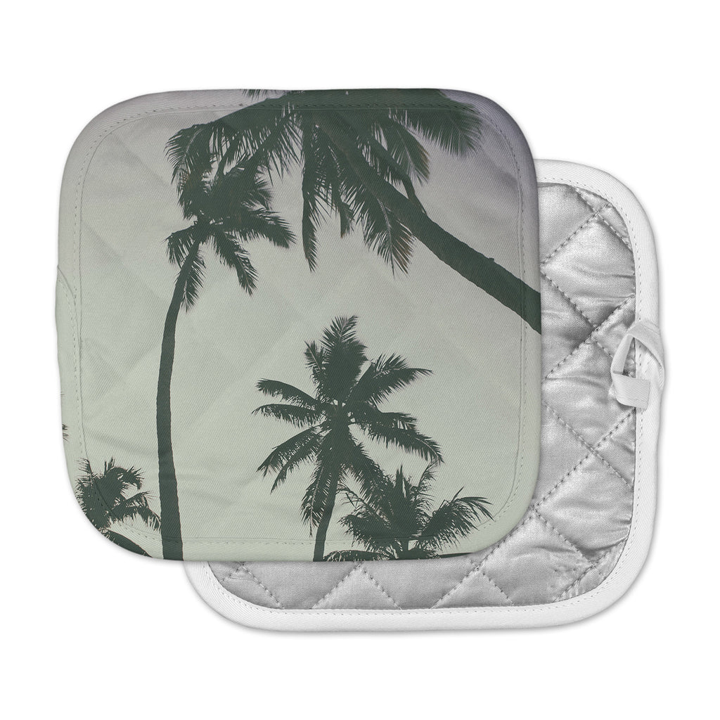 "Mary Carol Fitzgerald ""Rise Of Palms"" Purple Photography Pot Holder"