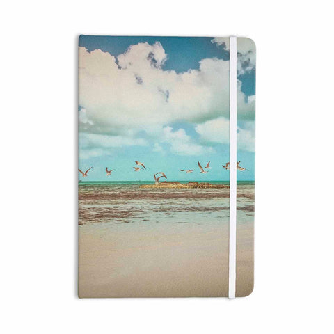 "Mary Carol Fitzgerald ""Free To Fly - Seagulls"" Blue Beige Photography Everything Notebook - Outlet Item"
