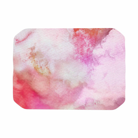 "Marco Gonzalez ""A 0 3"" Pink Magenta Abstract Modern Painting Mixed Media Place Mat"