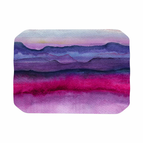 "Marco Gonzalez ""A 0 24"" Purple Pink Abstract Modern Painting Mixed Media Place Mat"