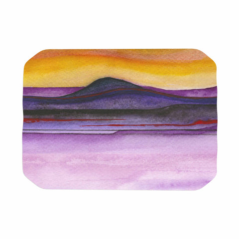 "Marco Gonzalez ""Abstract Nature 06"" Purple Yellow Abstract Nature Painting Mixed Media Place Mat"